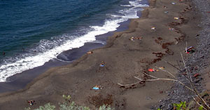 Well liked unspoiled Tenerife beach Playa el Arenal