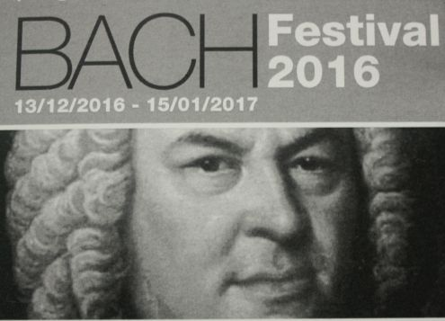 Public poster Bach festival over Christmas at Puerto de la Cruz.