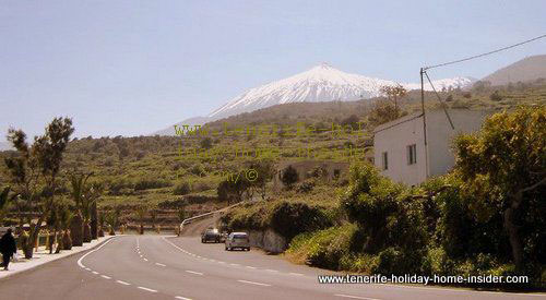 Teide mountain with snow