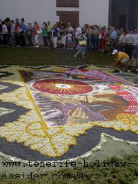 Biggest flower carpet Fronleichnam La Orotava