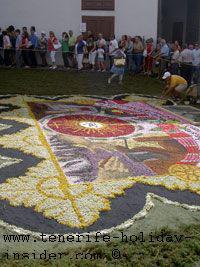 Biggest flower carpet Fronleichnam La Orotava