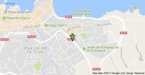 Aderno shop and cafe location Puerto de la Cruz La Paz.