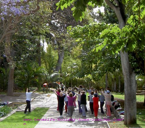 Group aerobics for the elderly as a lifestyle at Park Garcia Sanabria for fun and for better health