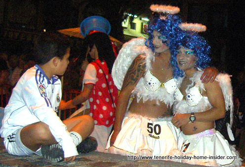 Angel disguise attire Puerto de la Cruz Tenerife