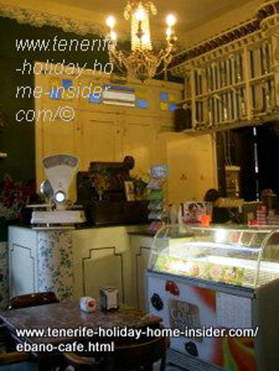 Antique cafe full with Art Nouveau gadgets and furniture