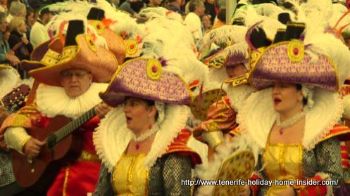 Antique hats worn by Rondalla musicians in Tenerife.