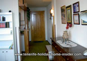 Apartment interior captured on camera from outside