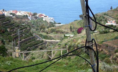 Aquaduct Realejos in the gorge Barranco Godinez.