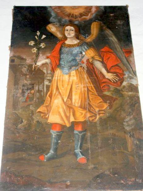 Archangel Gabriel with news of divine conception.
