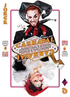 Carnival Arona Los Cristianos Playa las Americas 2017 poster - Motto Las Vegas