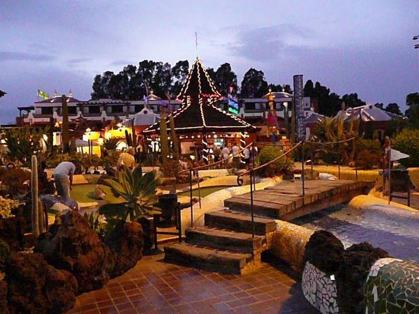 Arona Tenerife golfcourse under stars.