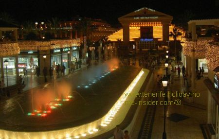 Arona musical fountain of Tenerife