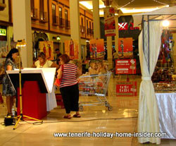 Art shopping La Villa Alcampo of Orotava Tenerife Spain as event to celebrate the birth of Christ.
