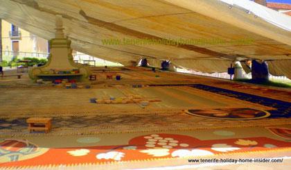 Art workshop for salt carpet in La Orotava
