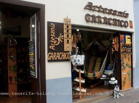 Artesania Garachico shop front in Calle Esteban de Ponte number 2 by Puerta de la Tierra