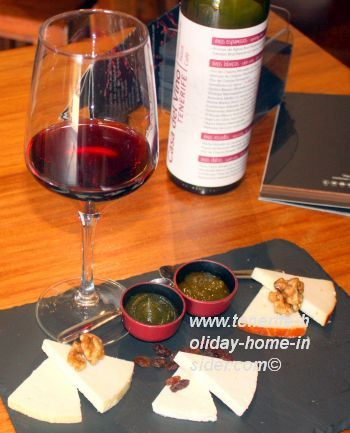 Assorted cheese Tapa at Casa del Vino Tenerife wine museum on special request.
