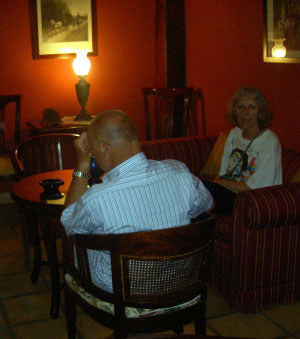 At the Abaco salon upstairs with myself in the photo.