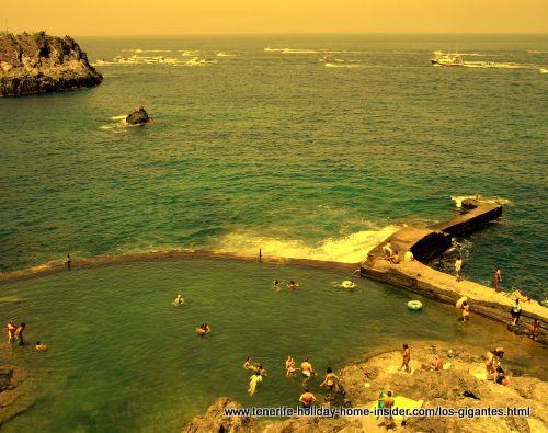 Atlantic rock pools below Barcelo Hotel