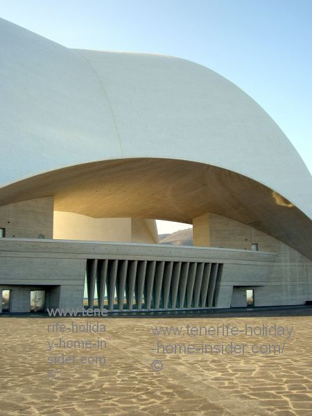 Auditorio balcony and yard for Tenerife capital New Year celebrations and other musical raves, all together enormous attractions.