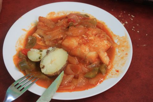 Bacalao con Cebolla which is Cod with onion.