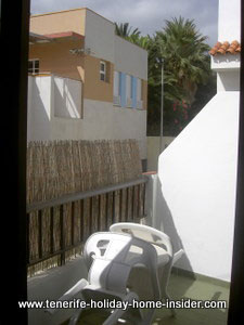 Back Veranda Tenerife apartment rental by Puerto Cruz