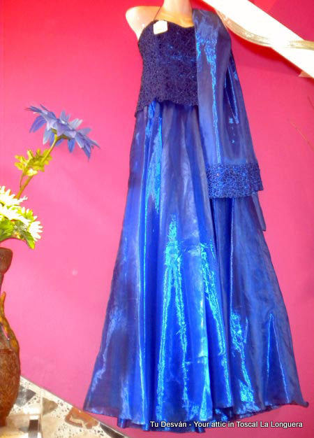 Ballroom dress blue, as a resale