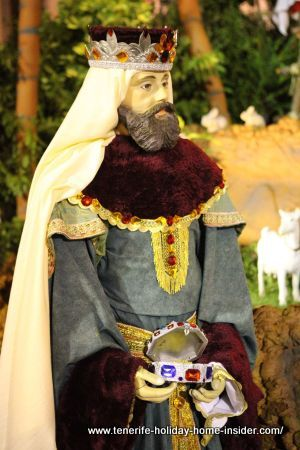 Balthasar an Oriental Holy king worshipper one of the so-called most important Reyes Magos of Tenerife Christmas
