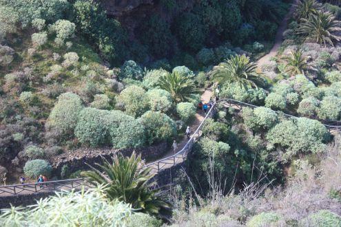 Barranco de San Vincente with bridge a part of Barranco de la Calera and the Ruiz Ravine region.