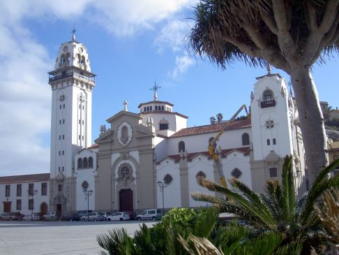 Basilica of Tenerife Black Madonna frontal view.