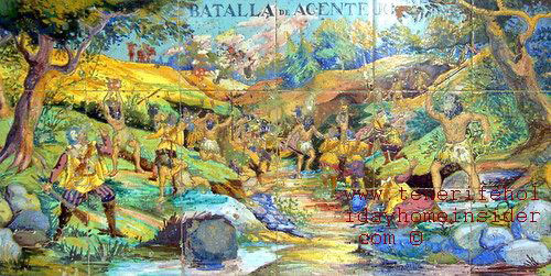 Battle of Acentejo Tenerife history mural.