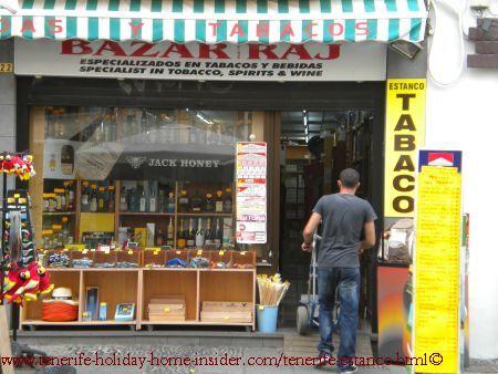 Bazar Raj Estanco Tabaco and Liquor Puerto Cruz