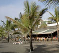 Beach bar eatery Playa Jardin
