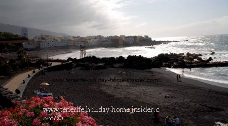 Beach landscapes beach Playa Charcon and Punta brava of Puerto de la Cruz Tenerife beaches