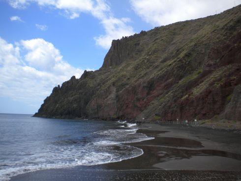 Beach las Gaviotas of San Andres.