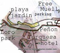 beach map for surroundings Playa Jardin Tenerife