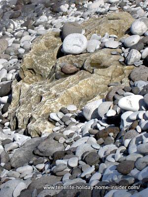 Beach pebbles round of Tenerife