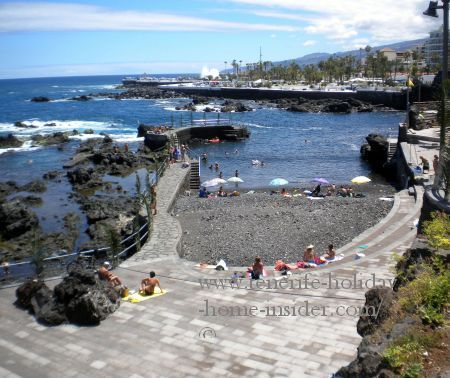 Beach San Telmo revamped in 2015 in Puerto Cruz Tenerife