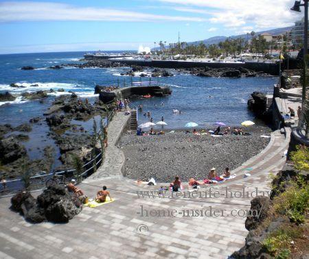 Beach San Telmo revamped in 2015 in Puerto Cruz Tenerife