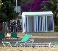 beach shower cabins Playa de las Teresitas Tenerife