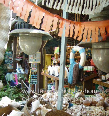 Beach souvenirs, such as sea shells