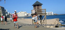 Beach watchtower at boardwalk El Medano