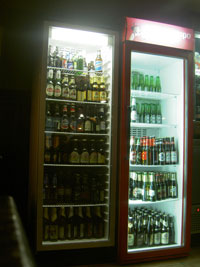 beer fridge tenerife with many beer brands