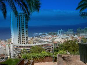 Bel-Air Apartment house and tallest building and landmark of Puerto de la Cruz.