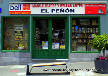 Bell art el Penon Art supply shop Puerto de la Cruz