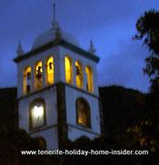 Belltower with magic light of Iglesia Santa Ana Garachico