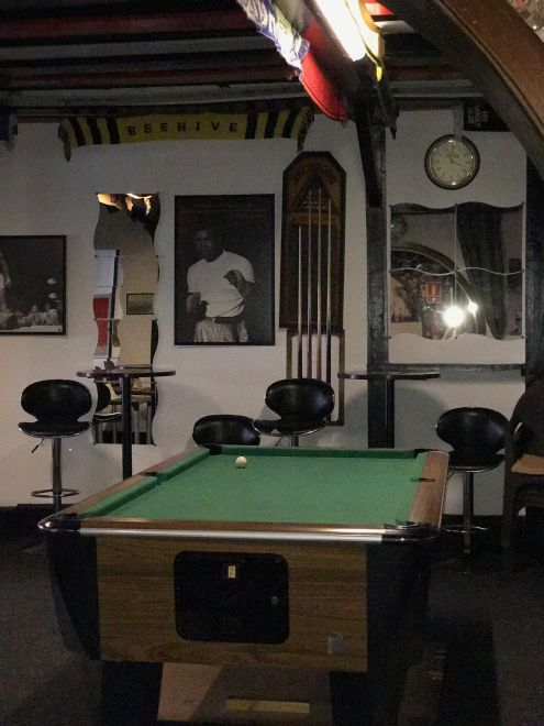 One of the Billiard rooms of the Bee hive Pub in Calle La Hoya Puerto de la Cruz