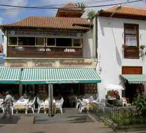 Bistro in the Puerto de la Cruz hub next to La Casona.