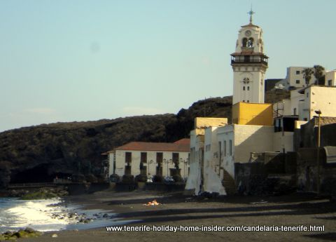 Black Madonna Basilica with Playa Arena beach