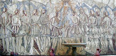 Black Madonna Candelaria history mural