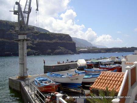 Ship repair wharf by Playa San Marcos of Icod de Los Vinos Tenerife